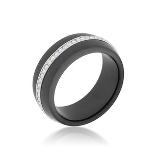 Ceramic Band Ring - Black