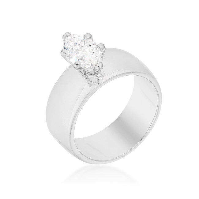 Solitaire Marquise Engagement Ring