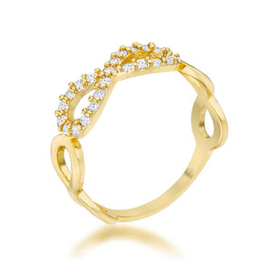 Mina 0.35ct CZ 14k Gold Infinity Ring