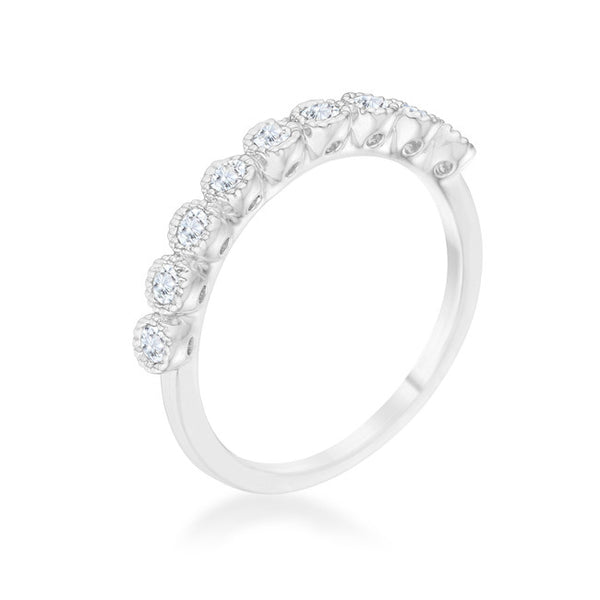 Bea 0.27ct CZ Rhodium Delicate Band