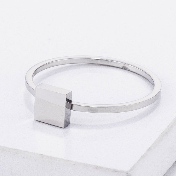 Stainless Steel Square Stackable Ring