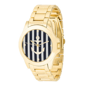 Nautical Gold Watch