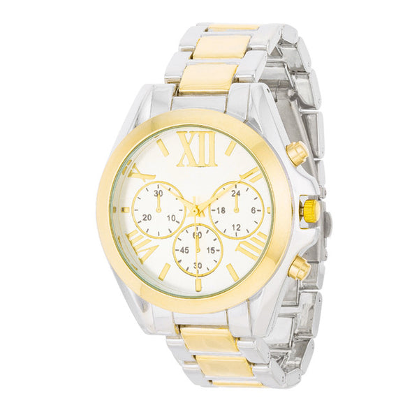 Roman Numeral Two Tone Watch