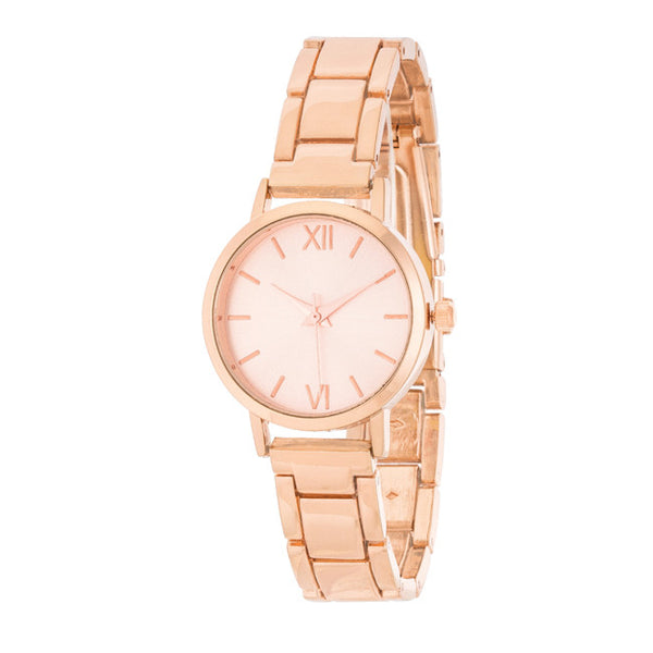 Kristiana Rose Gold Ladylike Metal Watch