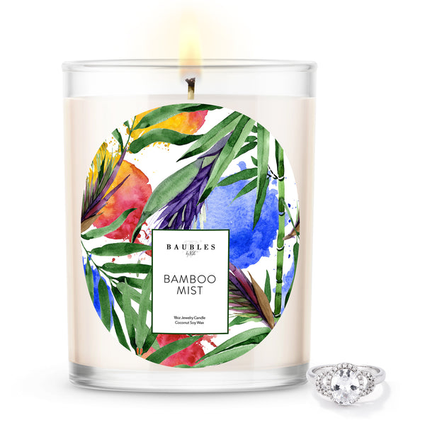 Bamboo Scented Premium Candle and Jewelry