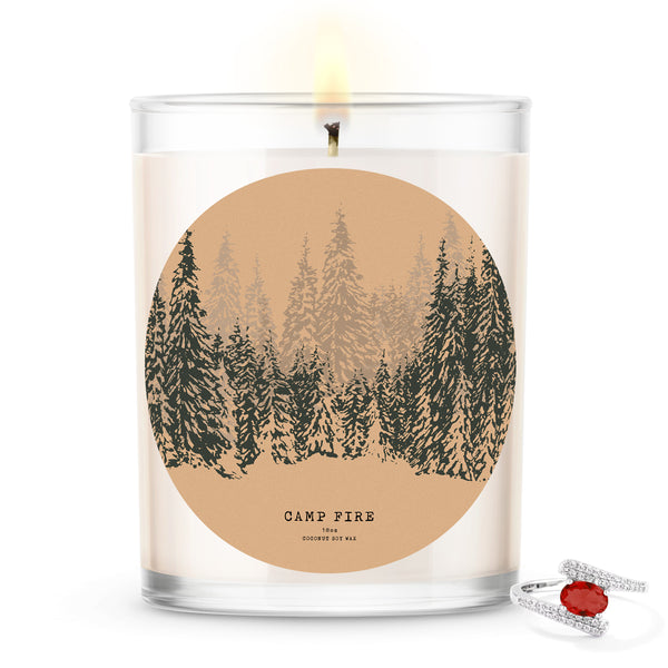 Camp Fire Scented Candle and Jewelry