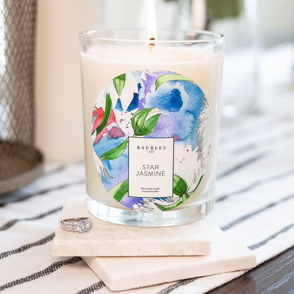 Star Jasmine Scented Premium Candle and Jewelry