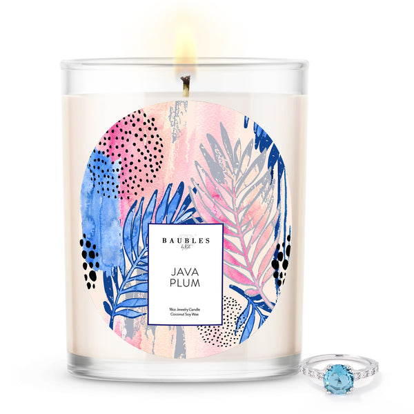 Java Plum Scented Premium Candle and Jewelry