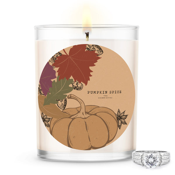 Pumpkin Spice Scented Premium Candle and Jewelry