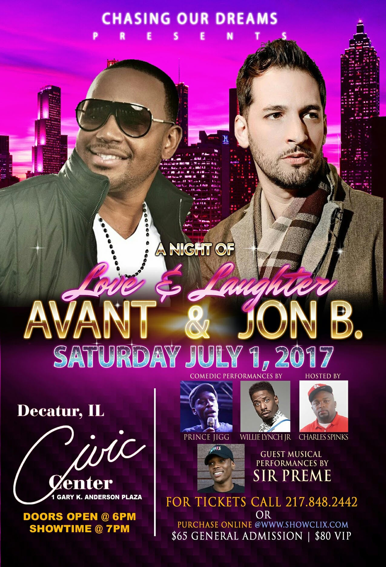 Avant and Jon B Concert Flyer