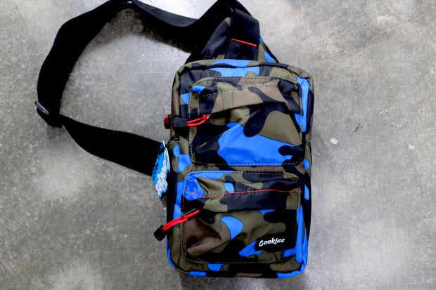 "Cookies ""Rack Pack"" Sling Bag (Blue Camo)"