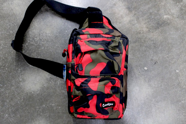 "Cookies ""Rack Pack"" Sling Bag (Red Camo)"