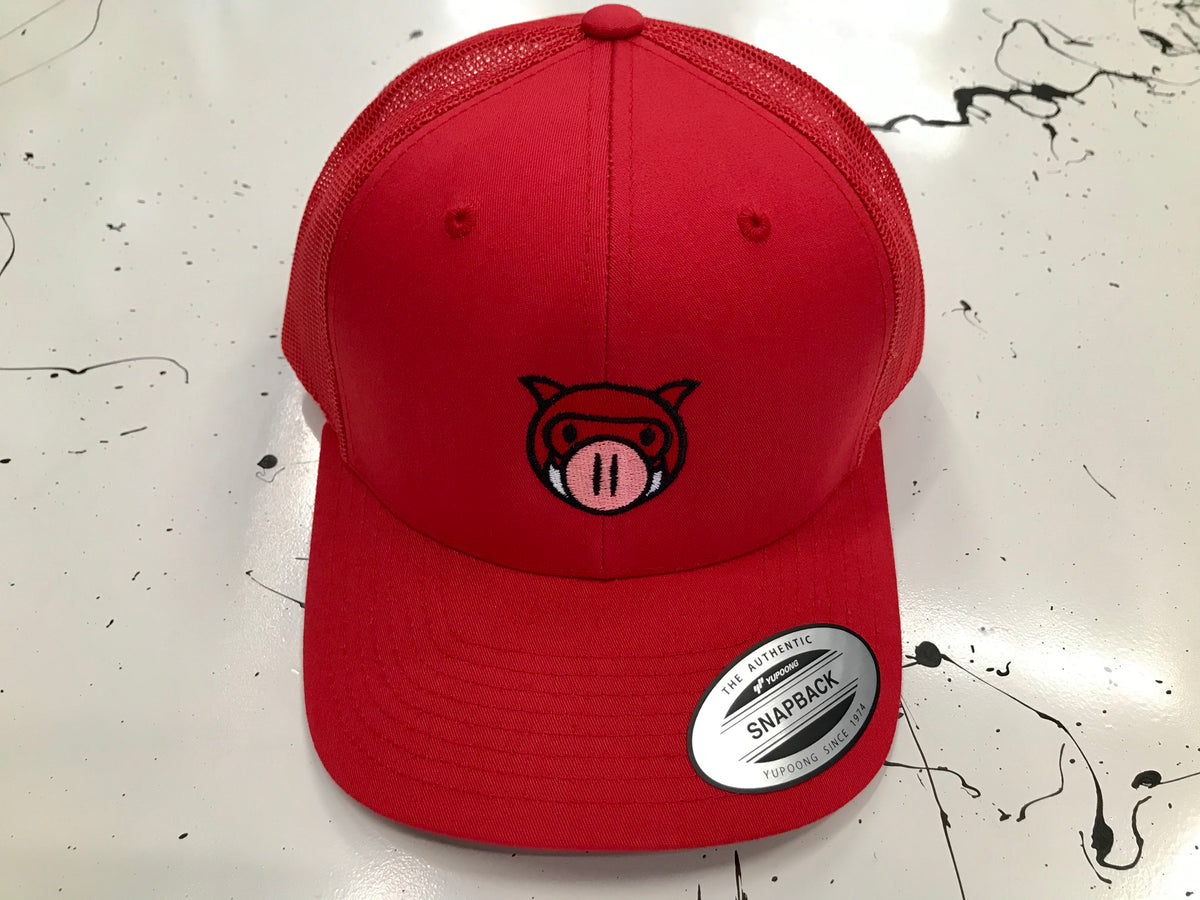 Piglo Trucker Snapback (Red)