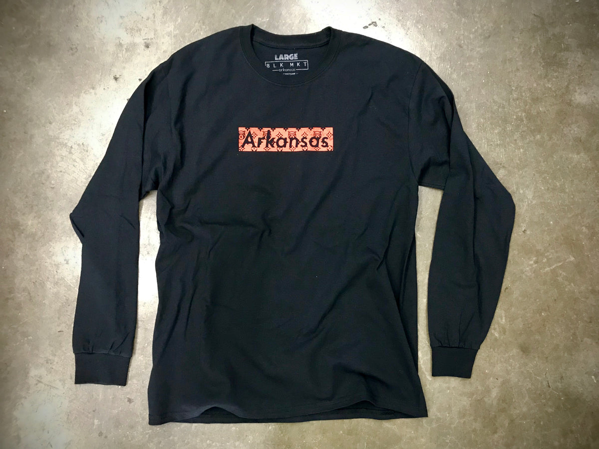 Soi33 V L/S Tee (BLK/RED)
