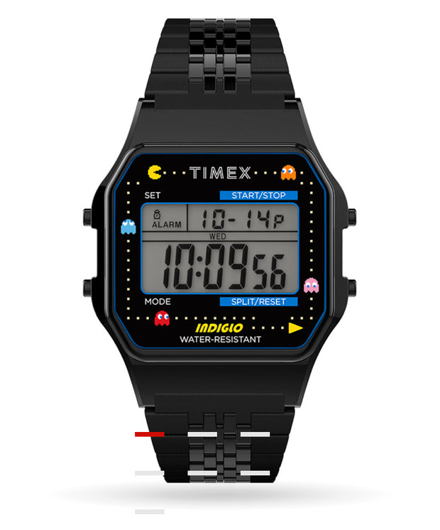 Timex T80 x PAC-MAN 34mm Watch (BLK)