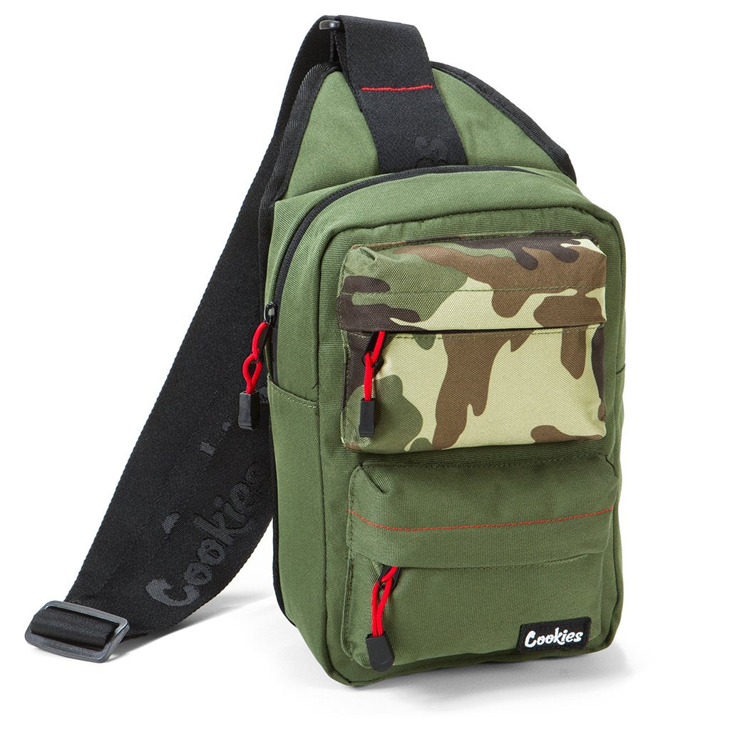 "Cookies ""Rack Pack"" Sling Bag (Olive)"