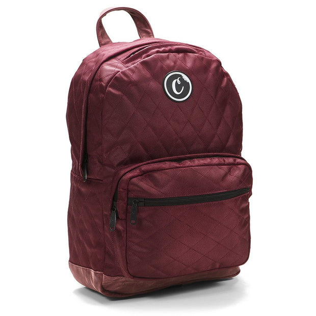 Cookies V2 Quilted Nylon Smell Proof Backpack (Burgundy)