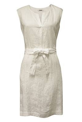 FARHI by NICOLE FARHI Vintage Linen Pintuck Sleeveless Shift Dress - sky williams collections