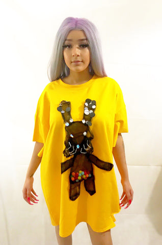 Funky S-Rabbit Oversized T-shirt - sky williams collections