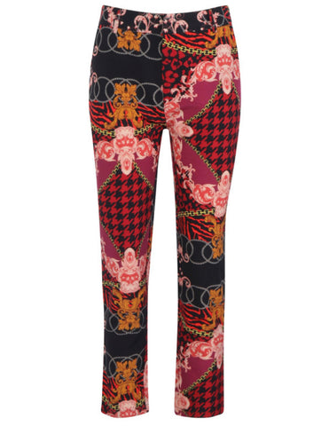 Mixed Chain Print Trouser - sky williams collections