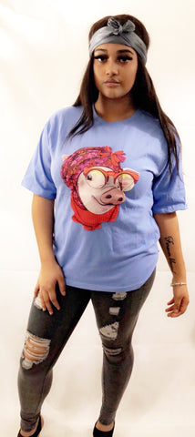 3D Granny Pig T-shirt - sky williams collections
