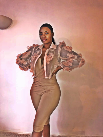 Ball Chiffon Jacket - sky williams collections