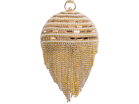 Goldie Diamanté Clutch Bag - sky williams collections