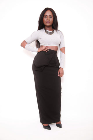 AQ Statement Pam Bow Maxi Skirt - sky williams collections
