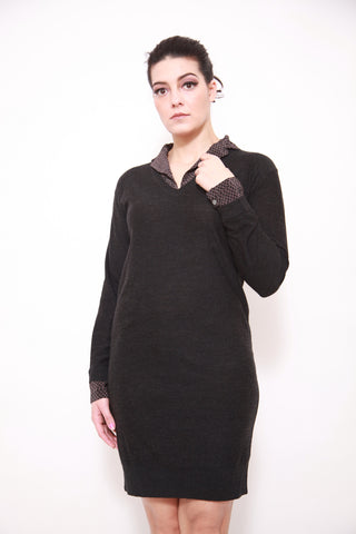 Farhi by Nicole Farhi Dalida Jumper Dress, Charcoal/Flint - sky williams collections