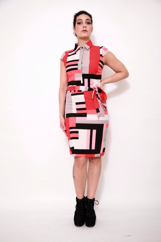 Colour Feast Midi Dress - sky williams collections