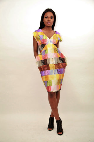 Pianted Inspired Dress - sky williams collections