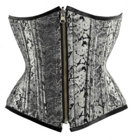 Grey Fashion Corset - sky williams collections