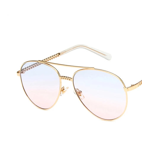 Star Gold Frame Glasses - sky williams collections