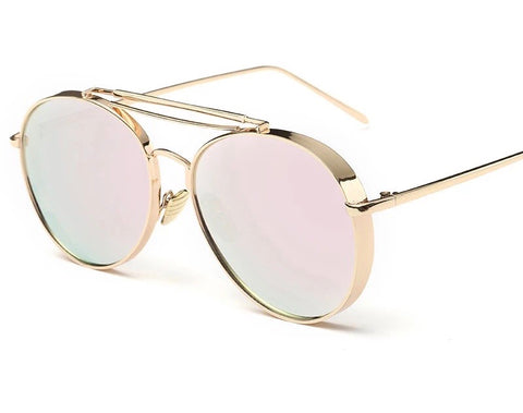 Jane Gold Frame Glasses - sky williams collections
