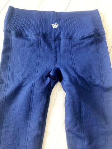 Navy blue Gripp Sculpt Power Leggins - sky williams collections
