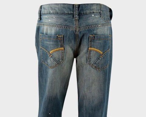 Shade Bootcut Distressed Jeans - sky williams collections