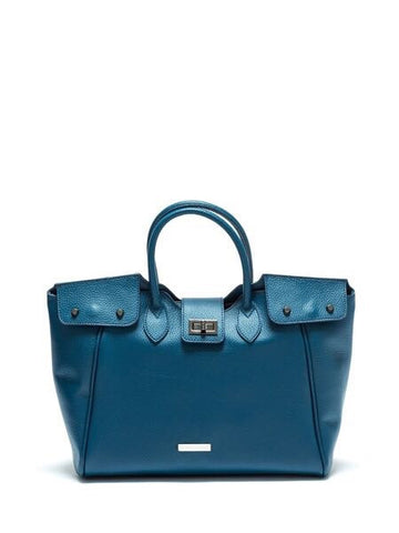 Anna Luchini Buckle Closure Handbag - sky williams collections
