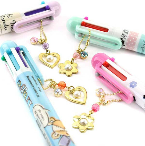 6 Color Charmed Ballpoint Pen