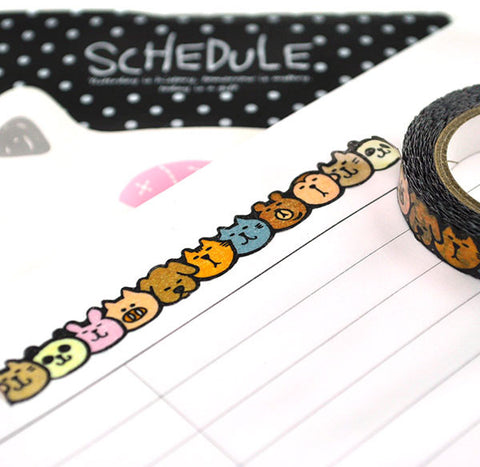 Animal Slim Washi Tape