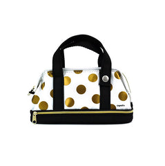 Purse Pencil Pouch-Gold Polka Dotted