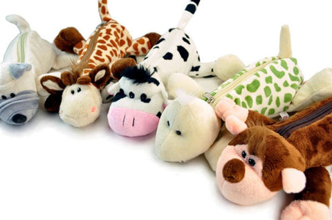 Plush Animal Pencil Pouches