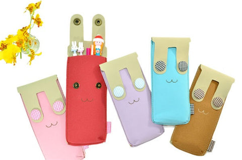 Button Eye Bunny Pencil Pouch