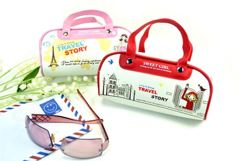 Sweet Girl European Travel Story Pencil Pouch