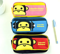 Capuchin Banana Double Compartment Pencil Pouch