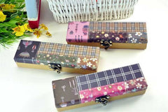 Chic Plaid Pencil Boxes