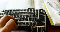 Retro Keyboard Butterfly Pouch