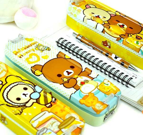 Rilakkuma Meets Honey Tin Pencil Case