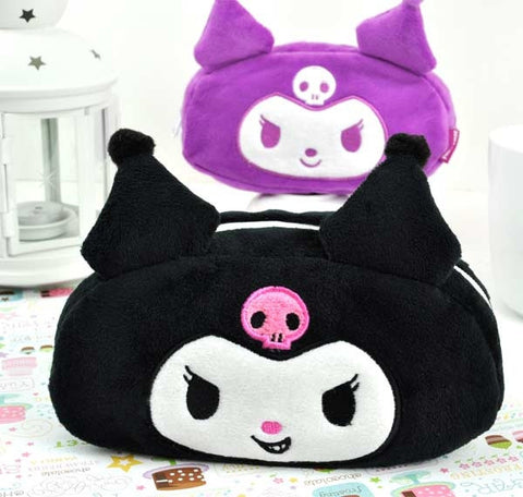 Kuromi Reversible Plush Pencil Case