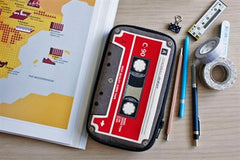 Tape Cassette Butterfly Pencil Pouch