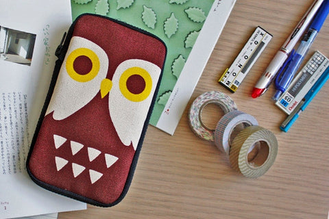 Night Owl Butterfly Pencil Pouch